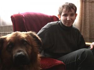 Czarek i jego przewodnik Brutus Fot.AB