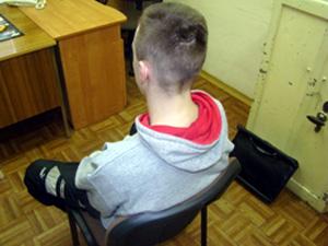 Jeden z młodych przestępców Fot.KWP Radom