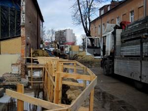 Ul. E. Orzeszkowej nadal zablokowana. Fot. BG