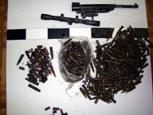 Mężczyzna posiadał 450 sztuk nielegalnej amunicji Fot. KWP Radom
