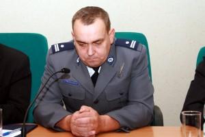 """Nagrodzony naczelnik """"drogówki"""" Marek Myszkiewicz Fot.AB"""