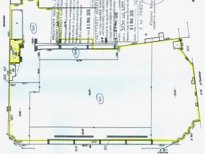 Plan terenu po byłym stadionie.