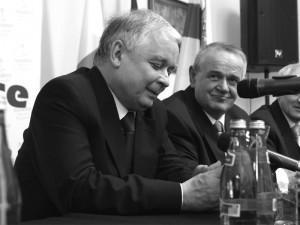Zmarły w katastrofie prezydent Lech Kaczyński i prezydent Wojciech Kudelski. Fot. AB