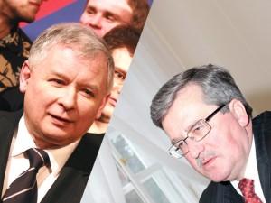 Dwaj główni kandydaci do prezydenckiego fotela: Jarosław Kaczyński i Bronisław Komorowski. Fot. AB