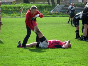 Na stadionie przy ul. Wojskowej rozgrywane są mecze rugby. Fot. BG