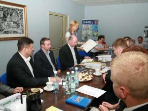 Jedna z pierwszych wizytacji w naszym mieście w 2008 roku. Fot. AB
