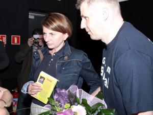 Julia Pitera i poseł Jacek Kozaczyński.