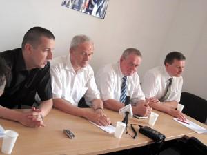 Jedna ze wspólnych konferencji. Od lewej: Tomasz Marciniuk, Krzysztof Tchórzewski, Wojciech Kudelski i Jarosław Głowacki. Fot. AB