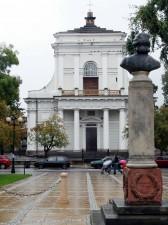 Kościół pw. św. Stanisława biskupa męczennika; widok ze Skweru im. T. Kościuszki