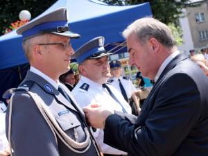 Medal dla siedleckiego komendanta.