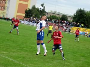 Spotkanie z Narwią; 28. sierpnia stadion przy ul. Prusa