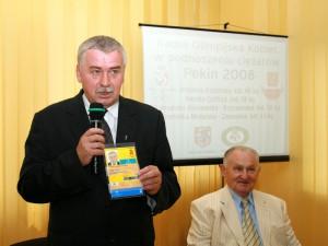 Zygmunt Wielogórski, starosta siedlecki przed pekińską olimpiadą w 2008r.