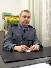 Na zdjęciu mł. asp. Michał Kowalski