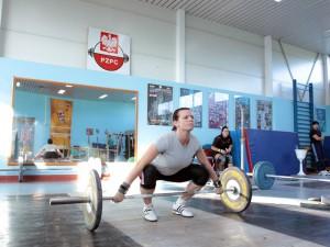 Dominika Misterska podczas treningu. Fot. AB