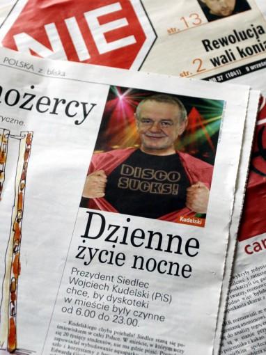 """Siedlecki prezydent w wydaniu """"NIE"""". Fot. BG"""