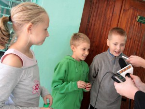 Weronika, Maciek oraz Piotrek - uczniowie szkoły