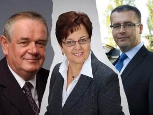 3 z kandydatów walczących o prezydencki fotel. Od lewej Wojciech Kudelski, Anna Sochacka i Maciej Drabio. Fot. arch. kandydatów