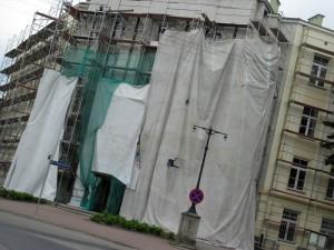 W 2010 roku budynek KMP Siedlce przechodził remont zewnętrzny. Fot. BG