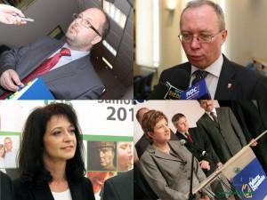 Elżbieta Lanc, Jacek Kozłowski, Janina Orzełowska i Mariusz Dobijański. Najniżej oceniani politycy Mazowsza? Fot. AB