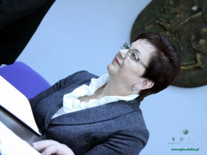 Anna Sochacka podczas dzisiejszej konferencji prasowej. Fot. AB