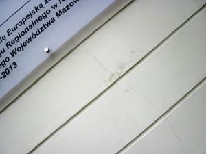 """Fragment ściany zewnętrznej budynku """"Podlasie"""". Fot. BG"""