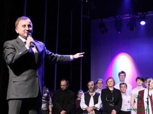 Mariusz Orzełowski podczas otwarcia Sceny Teatralnej CKiS w grudniu ubiegłego roku. Fot. AB