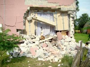 Zniszczony dom po wybuchu Fot.JD