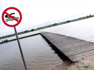 Zakaz kąpieli obowiązuje do piątku.