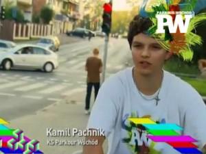 Kamil Pachnik, kadr z programu. Źródło: Parkour Wschód