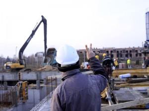 Aquapark w budowie... w grudniu 2011. Fot. BG