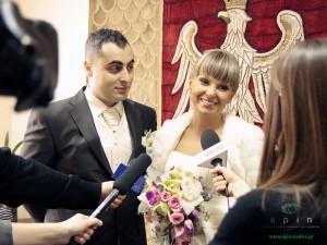 Agnieszka i Robert to jedna z trzech par, które uczciły Walentynki ślubem... Fot. AB