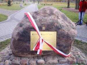 Inwestycja PWiKu była dla miasta tak istotna, że doczekała się własnego pomnika. Fot. AB