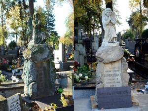 Odrestaurowany nagrobek Marii i Michaliny Zembrzuskich