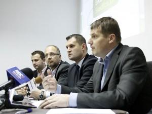 Konferencja klubu radnych PO i posła Jacka Kozaczyńskiego Fot. AB