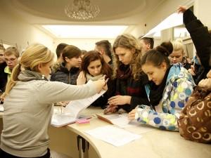 Rejestracja grup w Sali Podlasie. Fot. AB