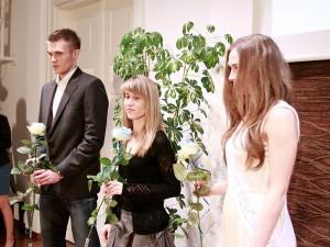 Na zdjęciu od lewej: Tomasz Jaszczuk (MKS Pogoń Siedlce) i Paulina Cisłak (SSON START) Fot. AB