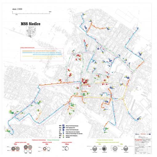Mapa stanu zaawansowania prac w mieście