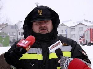 Adam Dziura, oficer prasowy PSP w Siedlcach