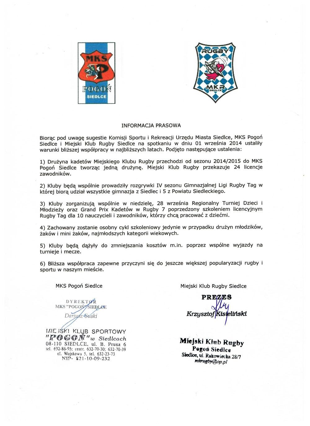 rugby porozumienie