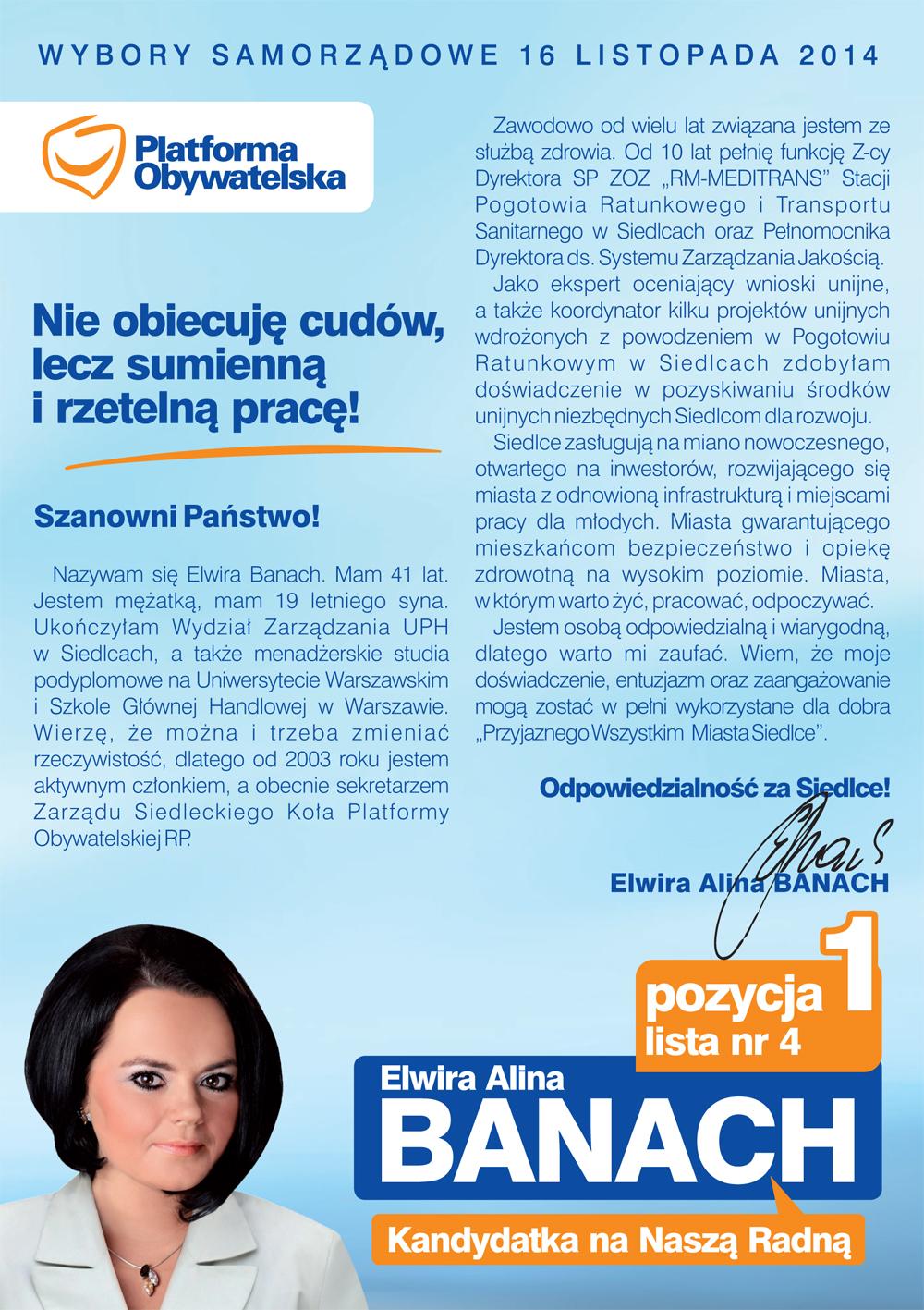 ELWIRA ALINA BANACH - ulotka ...