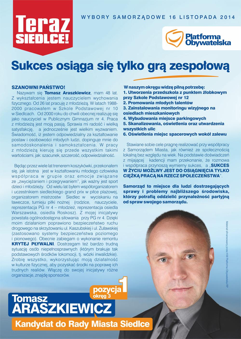 ulotka tomasz akarkiewicz