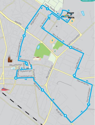 mapa półmaratonu