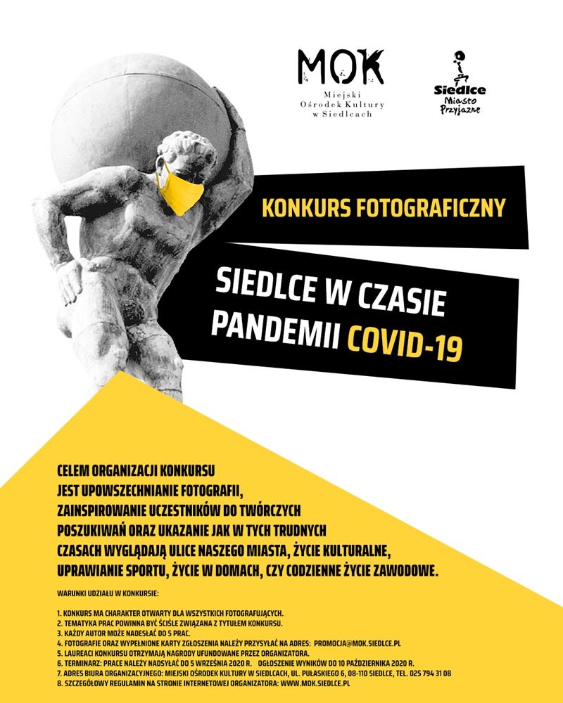 MOK konkurs fotograficzny Siedlce w czasie pandemii plakat