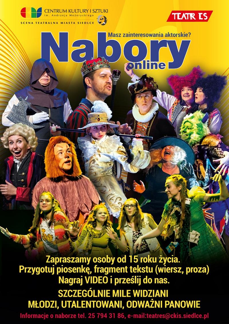 CKiS casting do Teatru ES plakat