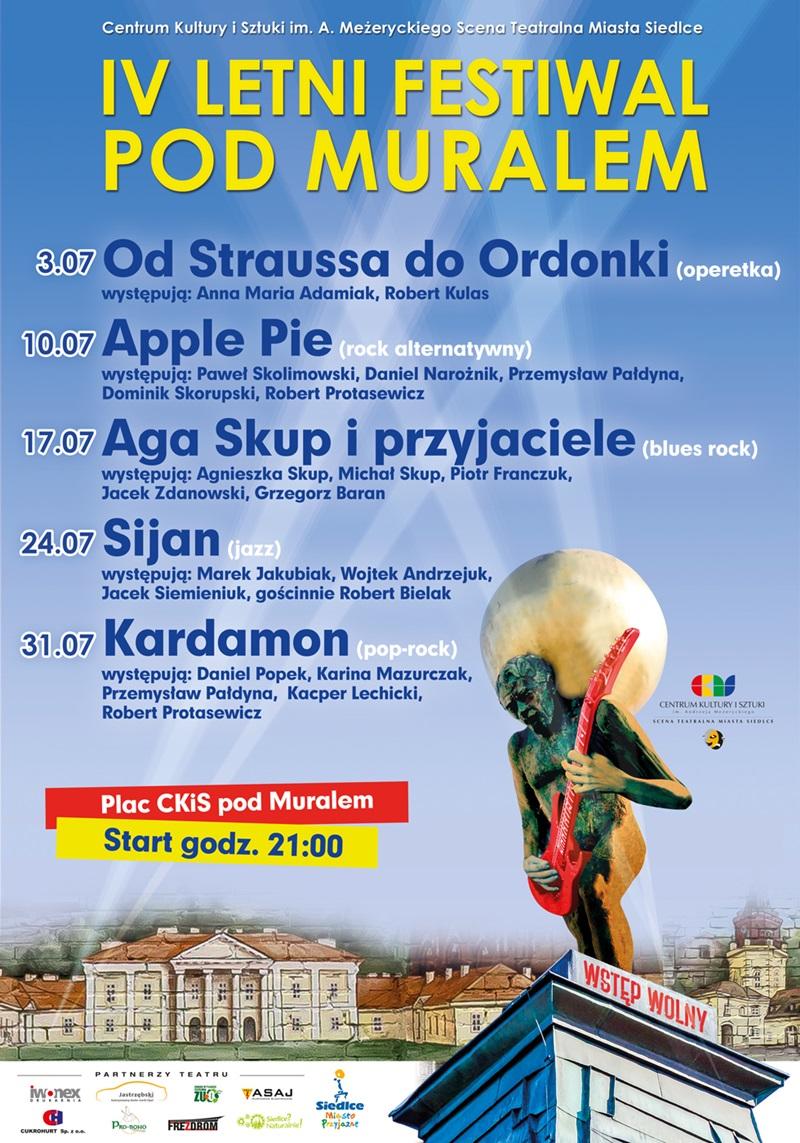 Letni Festiwal Pod Muralem plakat