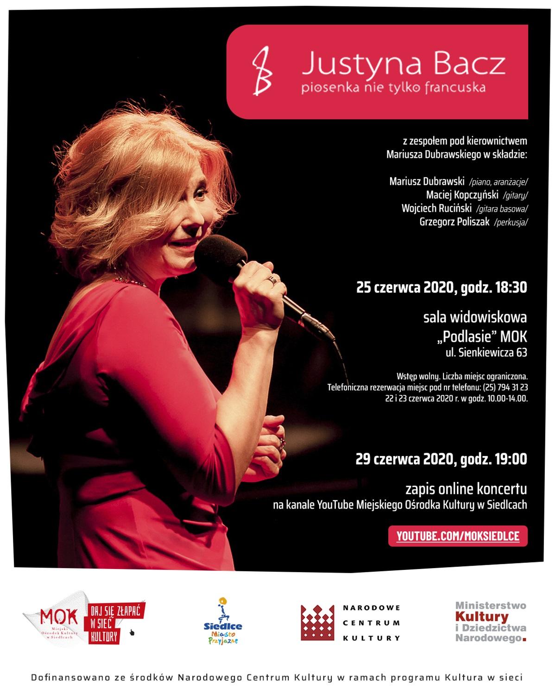 Koncert Justyny Bacz plakat