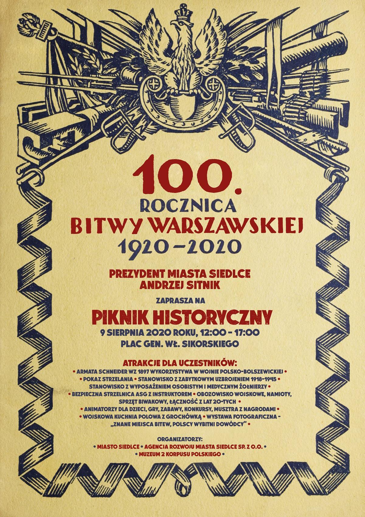 piknik historyczny upamiętniający 100. rocznicę Bitwy Warszawskiej