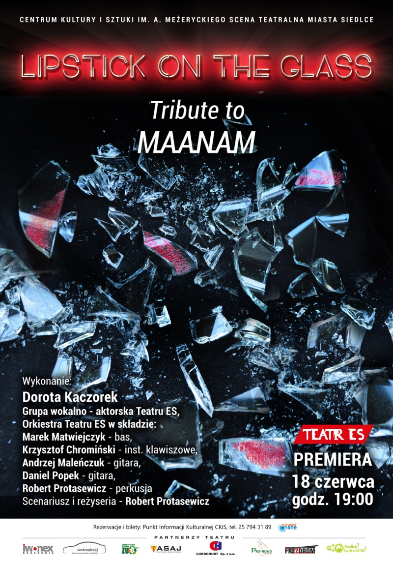 "Koncert Teatru Es ""Lipstick on the glass – tribute to Maanam""."